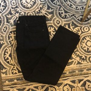 Black JCrew men's jeans.